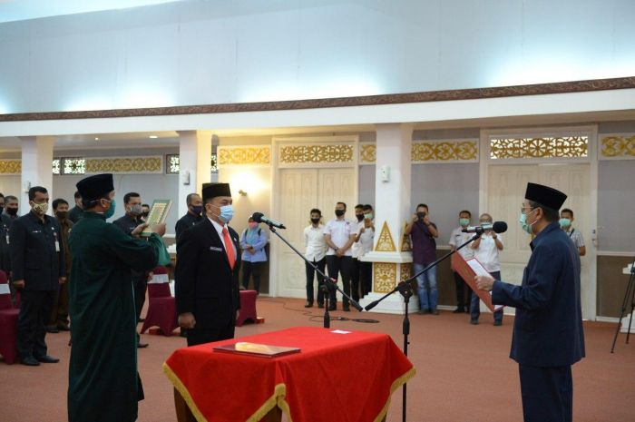 Sigit Juli Hendriawan Resmi Dilantik Jadi Kepala Inspektorat Riau