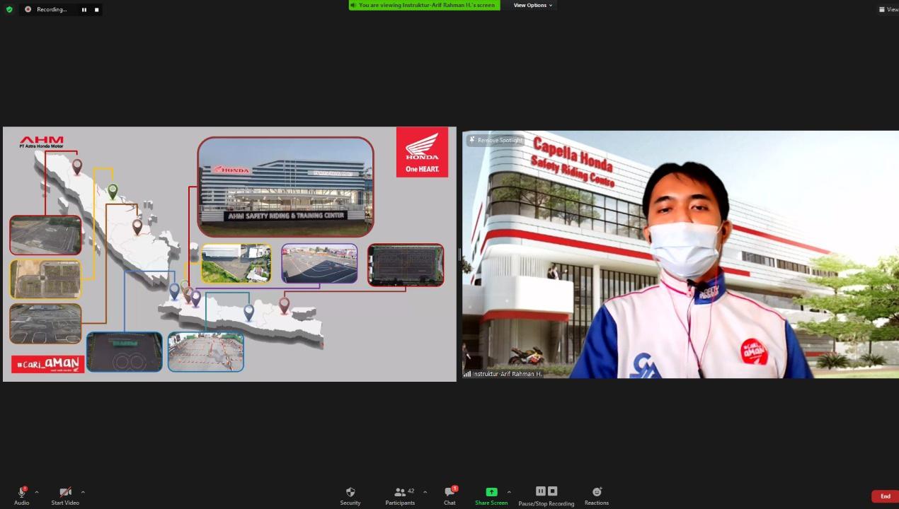 Lewat Webinar, CDN Riau Sampaikan Ilmu Berkendara Murid SMK Muhammadiyah