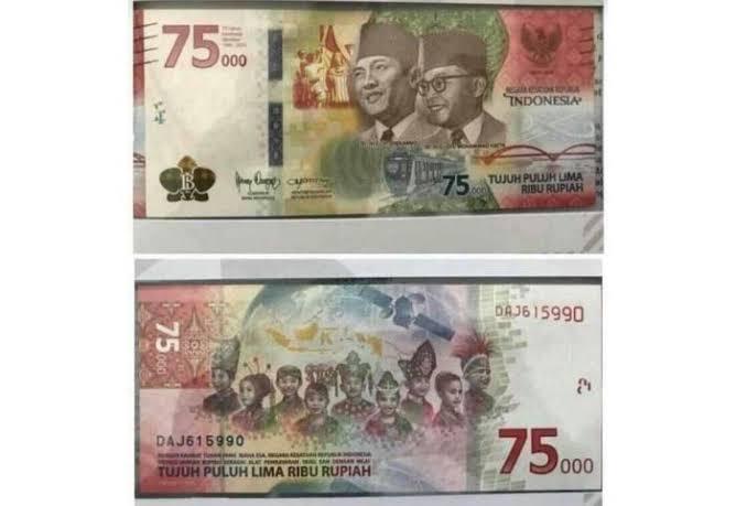 Desain Uang Peringatan Rp75.000 Banyak Makna